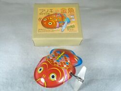 Tin Goldfish Wind-up Toy / Japanese Traditional Toys / Made In Japan