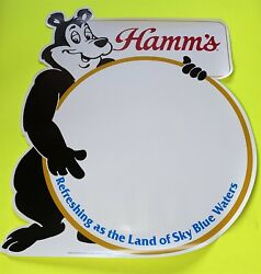Vintage Hamms Beer Bear Diecut Point Of Display Paper Sign 25 By 21.5