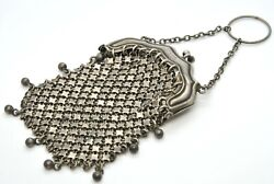 Whiting Davis Sterling Silver 925 Antique Victorian 3 Mesh Change Coin Purse