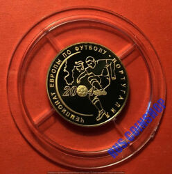 50 Roubles 2004 Russia European Football Championship Portugal Gold Proof
