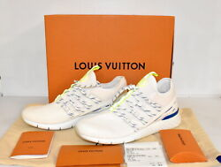 New Authentic Louis Vuitton Sneakers Fast Line Menand039s Athletic 913365 Us Sz 7.5