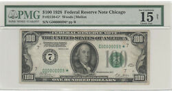 1928 100 Federal Reserve 2 Digit Starnote Serial Number G00000098 Pmg15
