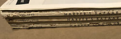 6 August 1940 Vintage Harper's Bazaar Magazines Minus Cover And Page