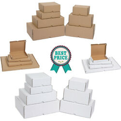 Cardboard Boxes White/brown Die Cut Folding Small Parcel Large Letter Postal Box