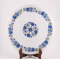 2and039x2and039 Antique Dining Coffee Stone Table Top Inlay Marble Pietra Dura Art C
