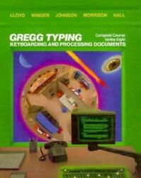 Gregg Typing Complete Course By Alan C. Lloyd J. E. Hall F. E. Johnson