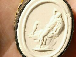 19thc Man Laying Woefully Plaster Moulded Tassie Intaglio Seal Grand Tour P20