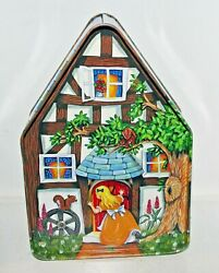 Silver Crane 1996 Fairy Tale Cottages Goldilocks 3 Bears Tin Box Container