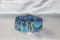 Peacock Paisley- House Collar/martingale/metal Side Release Dog Collar