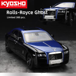 """Kyosho 118 Rolls-royce Ghost """"blue Blood"""" Diecast Car Model Collection Openable"""