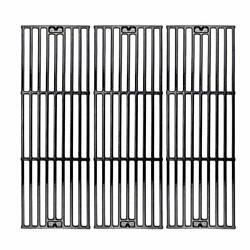 C6505a3-pack Cast Iron Cooking Grid Grates Replacement For Chargriller