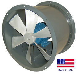 Tube Axial Duct Fan - Direct Drive - 12 - 3/4 Hp - 115/230v - 1 Phase - 2044