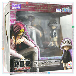 Megahouse One Piece Figure Portrait Of Pirates Pop Corazon And Law Limited