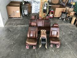 11-16 Ford F250 F350 Complete Set W/console/pass/pwr/heat/cool Rear Brown King R
