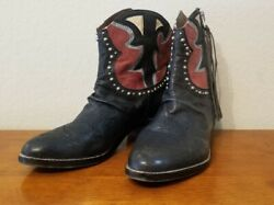 Sam Edelman quot;Shanequot; Short Western Studded Funky Cowboy Cowgirl Boots Size 9.5M $34.99