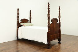 Empire Antique 1820 Acanthus Carved Mahogany Twin Bed 36626