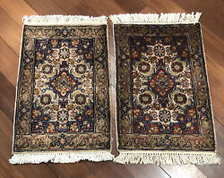 Pair Of 30andrdquox20andrdquo Handknotted Wool Carpet Home Interior Small Rugs