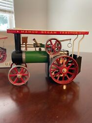 Vintage Mamod Steamer Tractor With Lumber Wagon