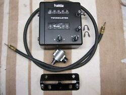Halda Twinmaster In Sought After Metal Case W/ Mounting Bracket Gearbox And Cable