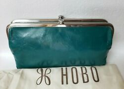 New with Tags Hobo Original LAUREN Leather Wallet Clutch Bluegrass $96.99