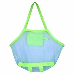 Large Beach Mesh Tote Bag Beach Toys Organizer Storage Bags Beach Bags for S $10.65