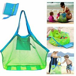 Mesh Beach Bag Extra Large Beach Bags and Totes Tote Backpack Toys Towels Sand $16.58