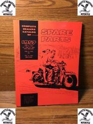 Spare Parts Catalog, Book, Manual, Etc, For Harley Panhead, 45 Solo, And Servicar