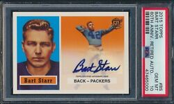 2015 Topps 60th Ann Retired Autograph Bart Starr 1957 Rookie Style Auto Psa 10