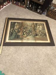 1893 Worldand039s Columbian Exposition Columbia Whiskey Rare Sign W Indians Columbus