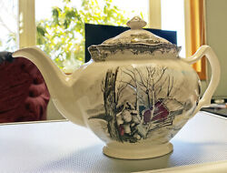 The Friendly Village By Johnson Brothers Tea Pot Sugar Maples Made In England