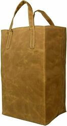 Waxed Canvas Tote For Grocery Durable Heavy Duty Reusable Shopping Bag $18.49