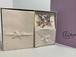 Vintage Whitings Stationary Box Set Pink Floral Ensemble Letter Writing Notes