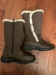 Totes Boots Womens Brown All Weather Faux Fur Lined Zip Size 7.5 LB20508F $24.99