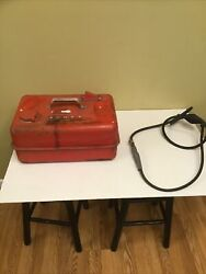Vintage Scott Atwater Outboard Motor Boat Fuel Tank W/ Hose Connectors Gas Can