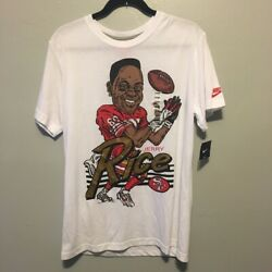 Nike Nfl Jerry Rice 49ers Graphic Caricature White T Shirt Size L