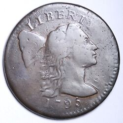 1795 Flowing Hair Large Cent Penny Choice Vf Free Shipping E101 Rbxr