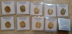 Lot Of 10 5 Agorot Coins Ancient Widowand039s Widows Mite Coin On Modern Israeli Coin