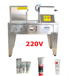 Ultrasonic Plastic Tube Sealer Automatic Toothpaste Cutter With Date Printer220v