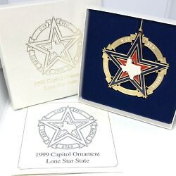 1999 Texas Capitol Ornament Lone Star State With Original Box And Pamphlet