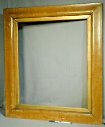 Antique Early American Empire 1845 Ogee Picture Frame Old Paint Faux Maple 24x20