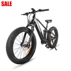 Electric Bike 48v 750w Bafang Mid Drive Motor 26 Fat Tire With 48v 14ah Battery