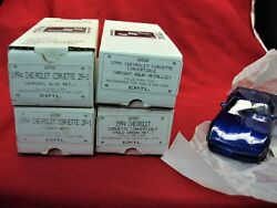 1994 Corvette - Group Of 4 Diff. 125 Scale Promos - Fresh W/o.b. -totally Nice