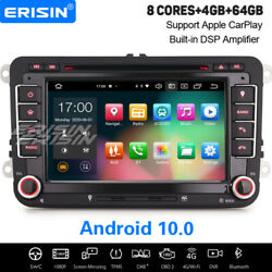 8-core Android 10.0 Car Stereo Navi For Vw Passat Golf 5/6 Polo Caddy Amarok Eos
