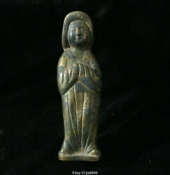 Old China Chinese Antique Silver Stand Palace Maid Statue Sculpture
