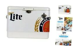 Stainless Steel Ice Chest - 85 Can Capacity With Bottle Opener, 54 Quarts/51 Li