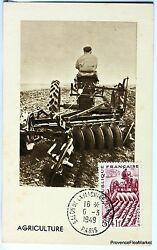 France Card Maximum 1949 The Labour Tractor Yt 823 Bis
