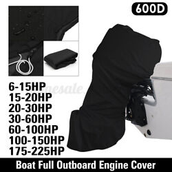 6 - 225hp Motor Boat Full Outboard Engine Cover Protector Waterproof 600d Us