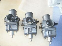 Polaris Vintage 1980s Snowmobile 600 Triple Carb Carburetor Set 3 Marked 60l 02g
