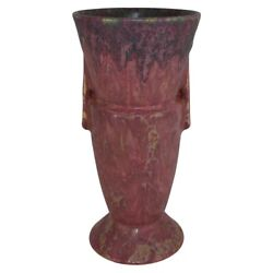 Roseville Pottery Carnelian Ii Mottled Red Arts And Crafts Futura Vase 439-9