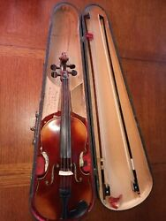 Pre 1900 Violin Copy Stradivarius Made Germany Erich Steiner Bow And Ophelia Bow